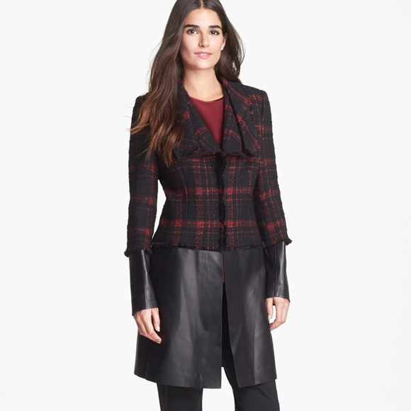 Lafayette 148 New York Jackets & Blazers - 🔥 HOST PICK Lafayette 148 NY Tweed & Leather Coat